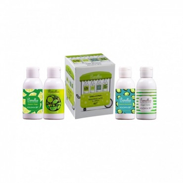 POMELLOS LIME & LEMON 4'LÜ KOLONYA SETİ (4X100 ML, 80 derece, Pet şişe)